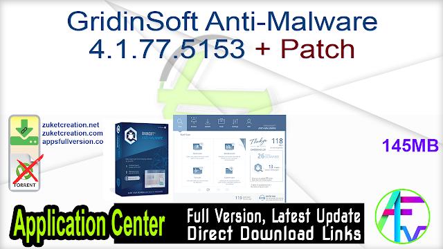 GridinSoft Anti-Malware 4.1.77.5153 + Patch
