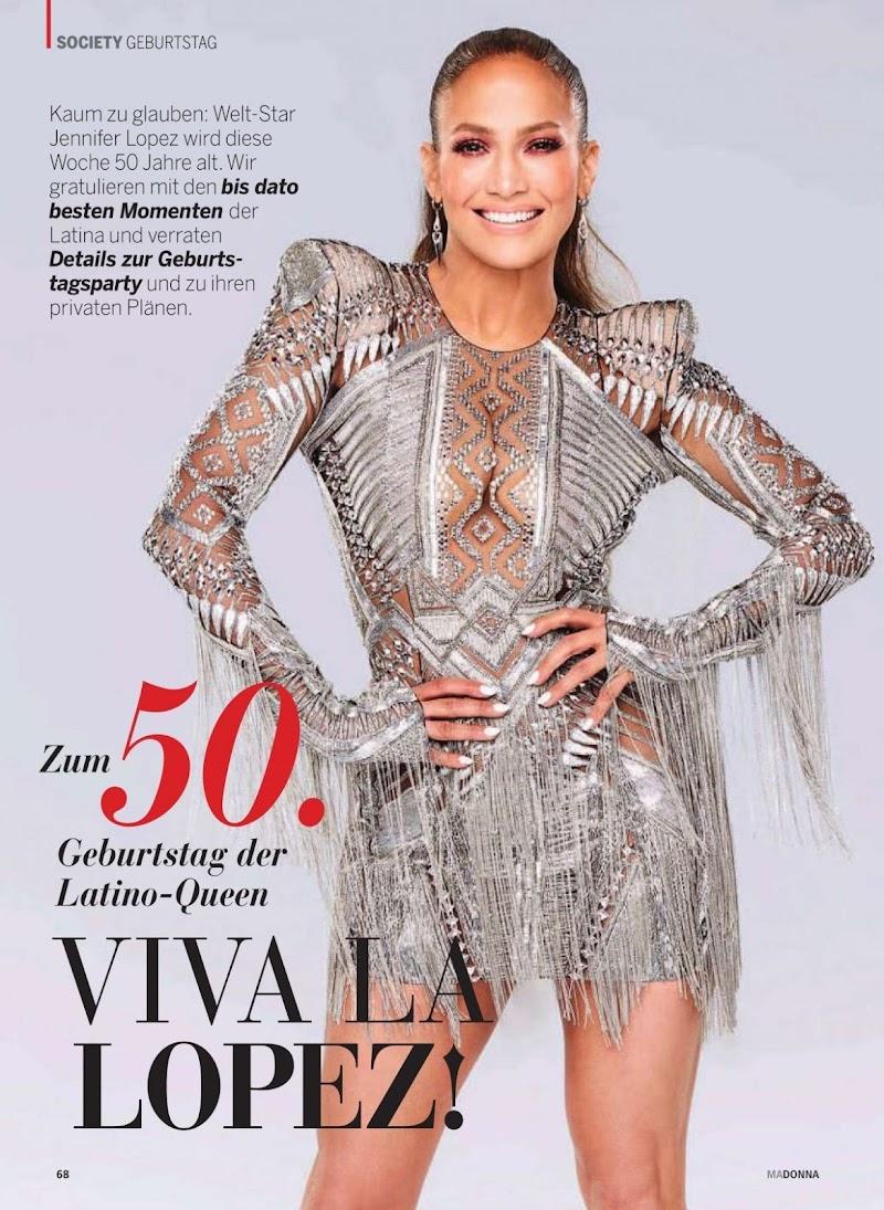 Jennifer Lopez Clciked For Madonna Magazine, Austria July 2019