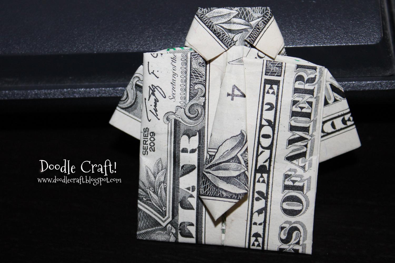 Dollar Shirt Origami Tutorial Money Diagrams