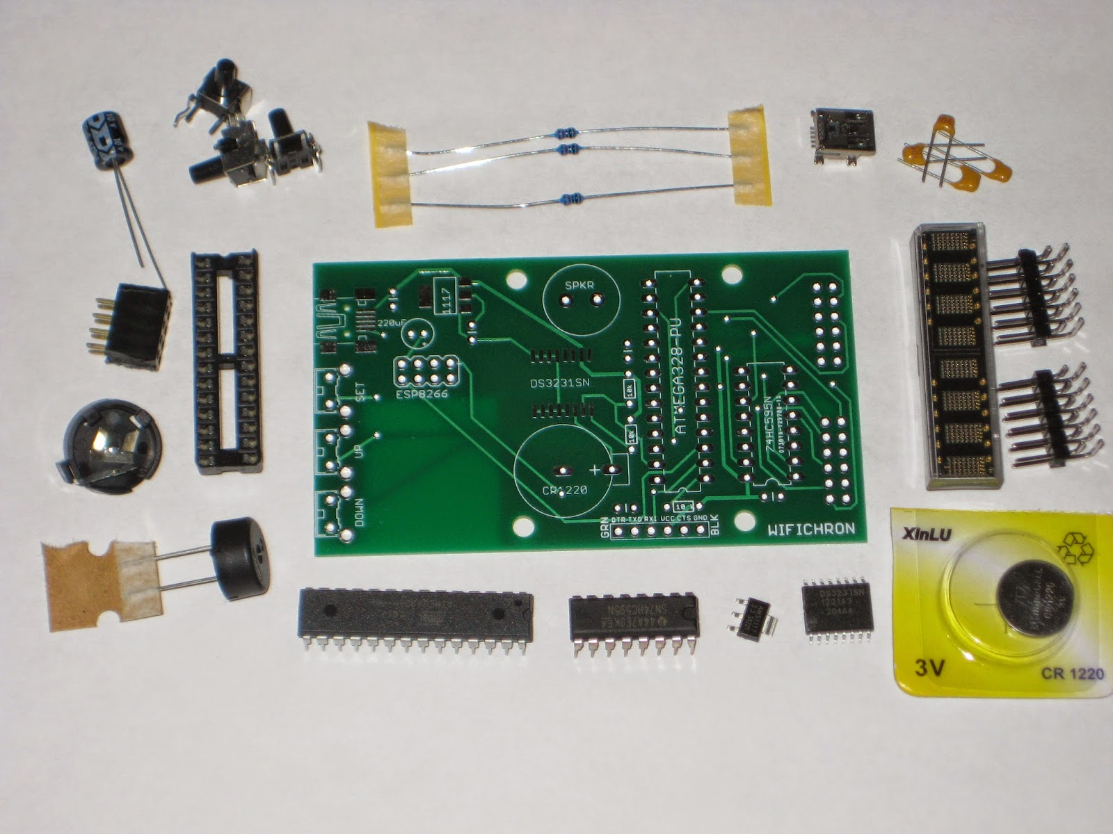 Wise time with Arduino: WiFiChron clock kit now available