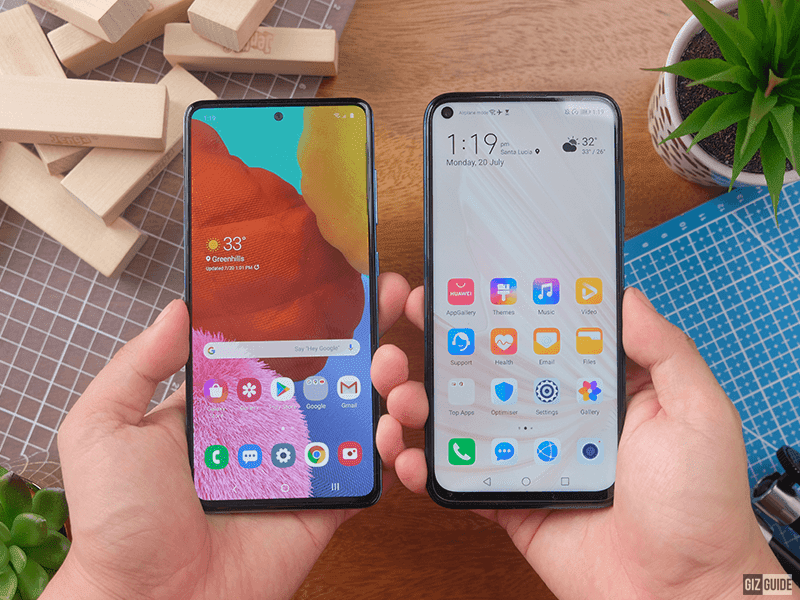Huawei Nova 7i vs Samsung Galaxy A51 Comparison