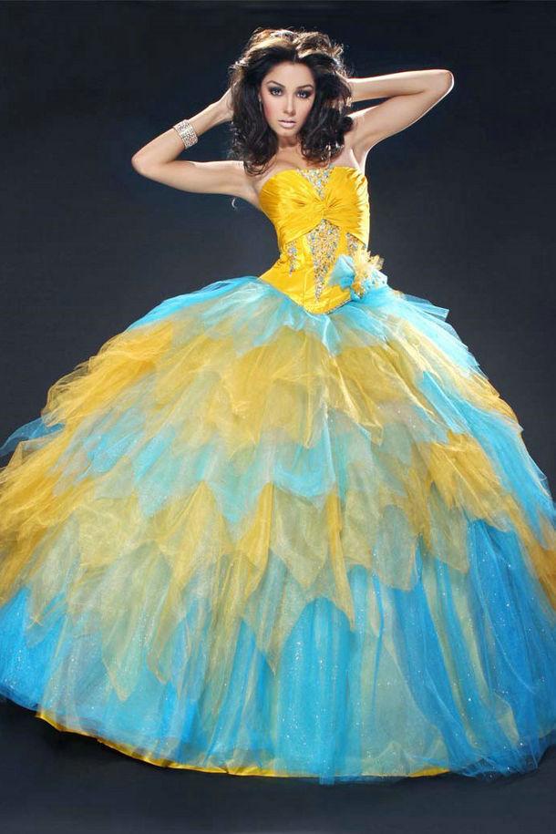 Vestido De Debutante Azul Marinho