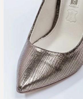 Puntera del modelo de zapato de fiesta plateado