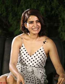 Samantha Ruth Prabhu looks super cute in a deep neck sleeveless short dress ~ Exclusive 021