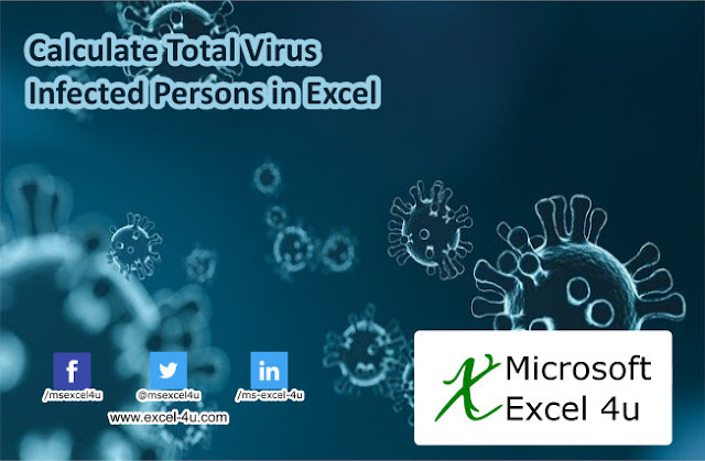 Calculate Total Virus Infected Persons in Excel