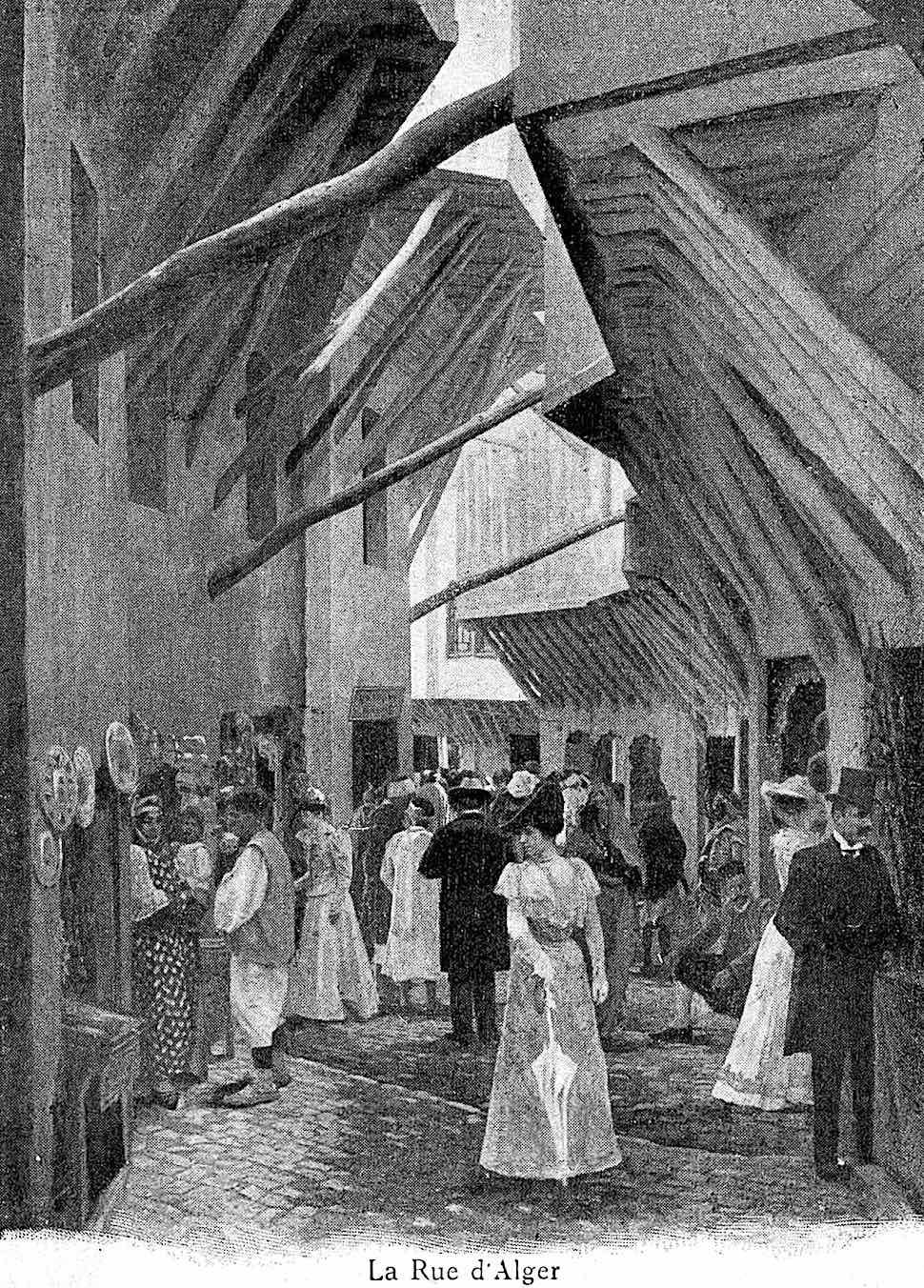 The Rue d 'Alger at the 1900 Paris World's Fair, an illustration