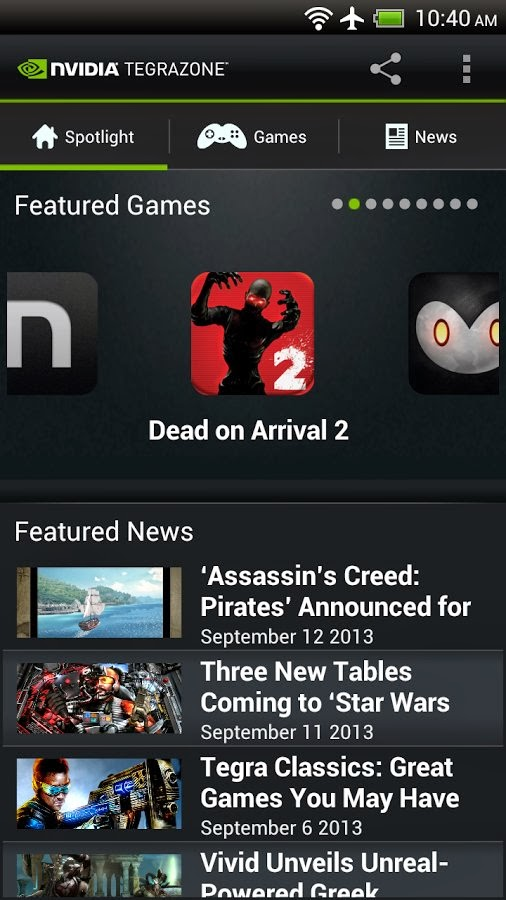 NVIDIA TegraZone app for Android updated to v2.9, now available for non-Tegra devices
