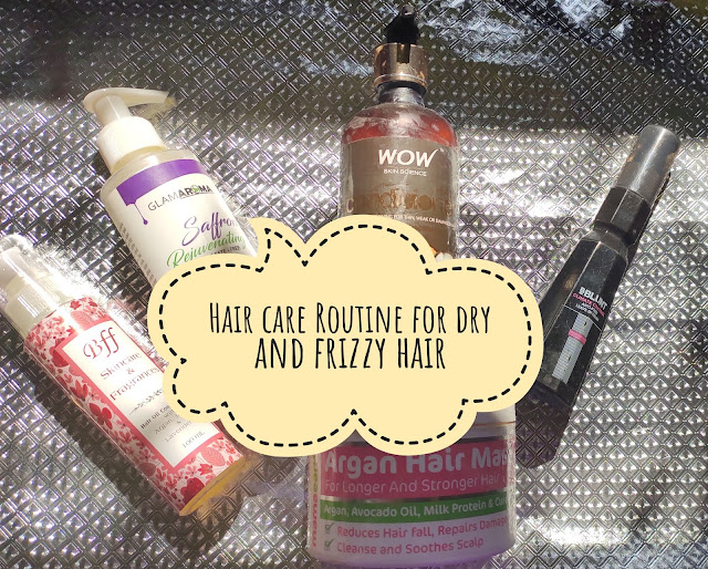 Hair care routine for dry and frizzy hair