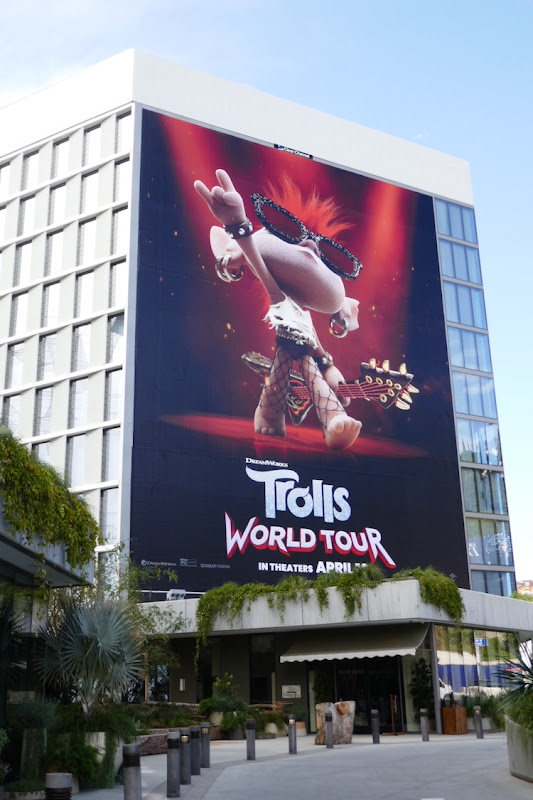 Giant Queen Barb Trolls World Tour billboard