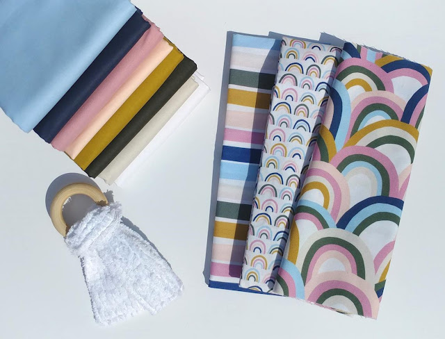 Over the Rainbow fabrics by Ampersand Studio for Paintbrush Studio Fabrics