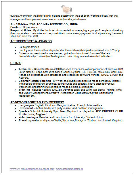 Sample Resume Of Sap Hr Fresher Professional Resume Format Free Download