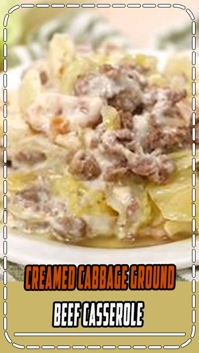 A creamed cabbage and ground beef with bacon low carb casserole recipe. It's the perfect comfort food for keto meals. #casseroles #ketocasseroles #comfortfood