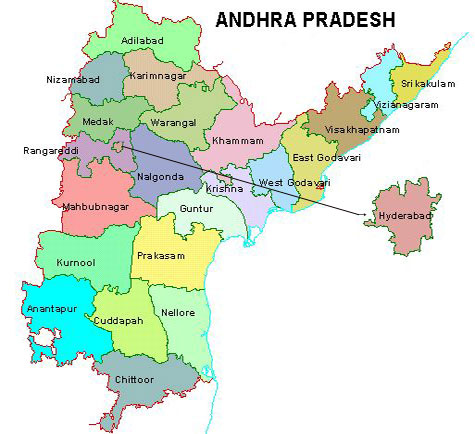 List of Andhra Pradesh Districts With Headquarters and