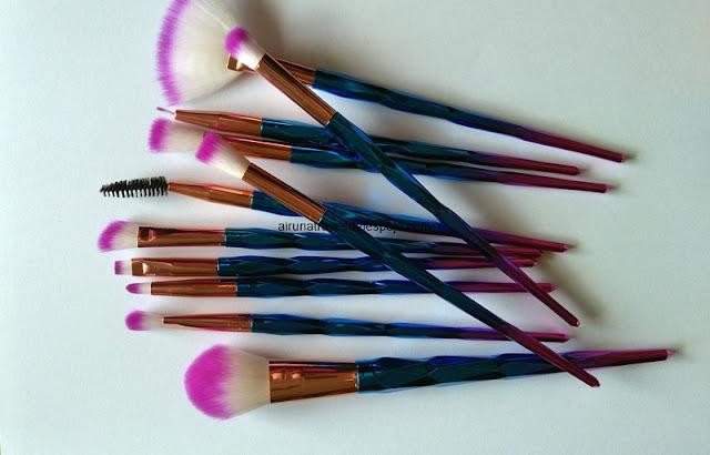 brochas metalizadas maquillaje