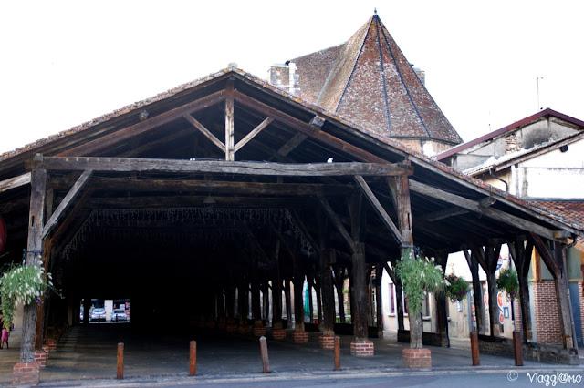 Il caratteristico mercato coperto di Chatillon sur Chalaronne