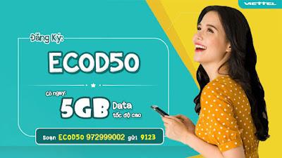 Gói cước 3G/4G ECOD50 Viettel