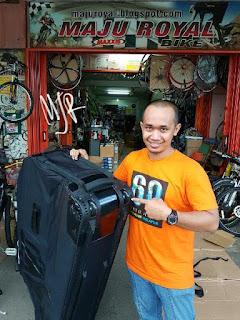 Tas Sepeda Nautilus for Mtb atau Roadbike Semi Hardcase pakai RODA