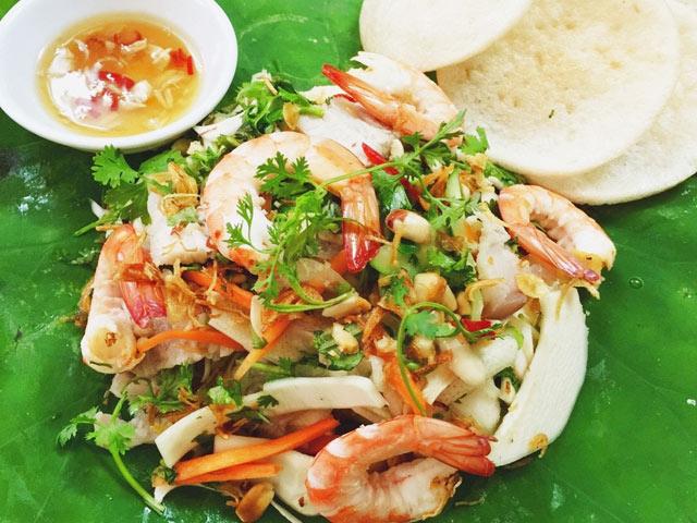 Món khai vị: Gỏi Củ Hủ Dừa