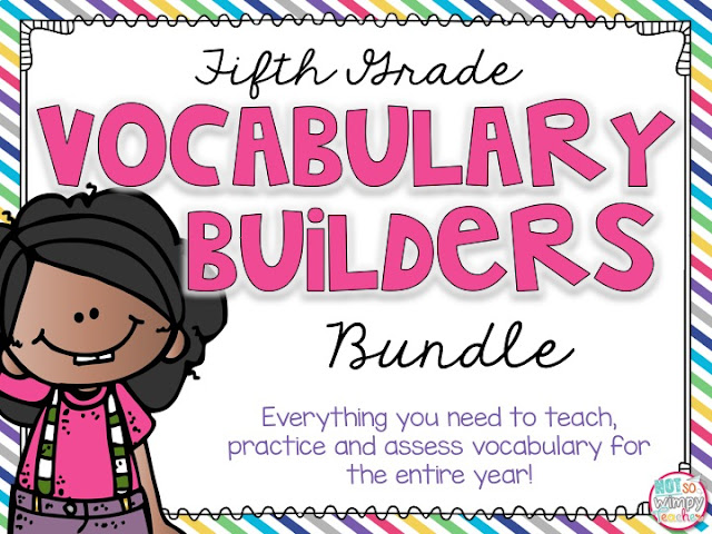 Fifth grade vocabulary builders bundle: everything you need to teach, practice and assess vocabulary for the entire fifth grade year.