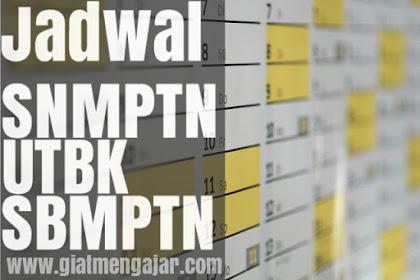 Jadwal terbaru SNMPTN, UTBK dan SBMPTN 2019