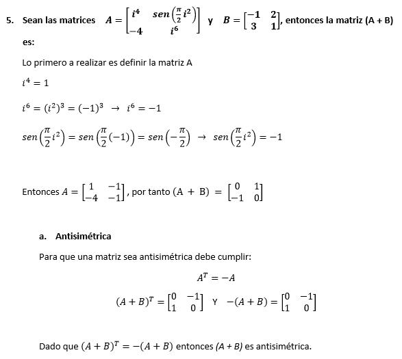 Solución Tema 5 Examen Matemáticas ESPOL 1S-2016