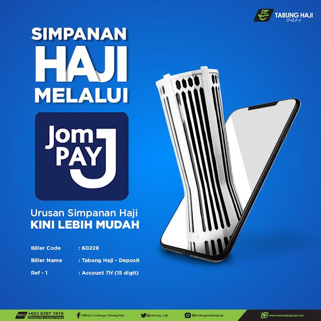 Cara Deposit Duit Ke Tabung Haji Menggunakan JomPay Di Maybank2U (Tanpa Caj Tambahan)