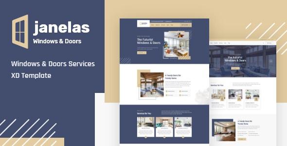 Best Windows & Doors Services XD Template