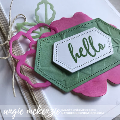 By Angie McKenzie on this Thankful Thursday; Click READ or VISIT to go to my blog for details! Featuring the To A Wild Rose Stamp Set and Dies, Stitched Nested Labels Dies, Layered Leaves 3D Embossing Folder; #toawildrosestampset #cleanandsimple #stitchednestedlabelsdies #linenthread #stampinupinks #fauxoxidetechnique #paperscraps #anyoccasioncards #cardtechniques #vellumlayers #stamping