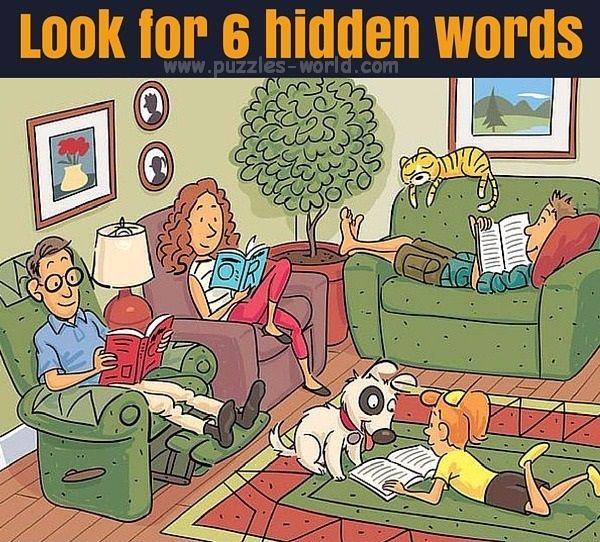 Look for 6 hidden words