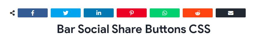 Bar Social Share Buttons CSS