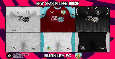PES 6 Kits Burnley FC Season 2018/2019 by Alessandro