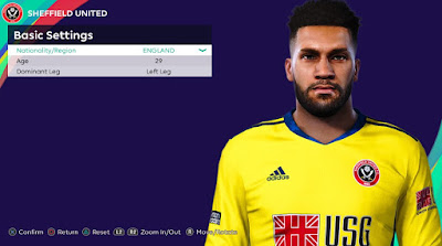 PES 2021 Faces Wes Foderingham by Rachmad ABs