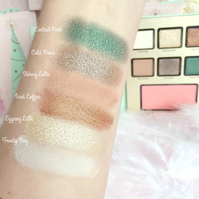 Too Faced Grande Hotel Cafe | Eggnog Latte Swatches