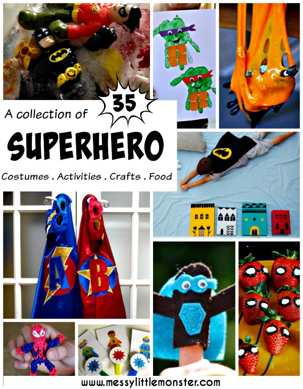 Superhero ideas for kids: costumes, activities, crafts, food