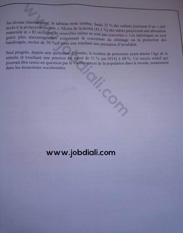 Exemple Concours de Recrutement des Auditeurs des Juridictions Financières 2019 - Cour des comptes