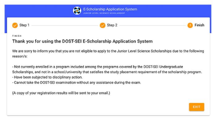 DOST 2020 Junior Level Science Scholarship (JLSS) online application