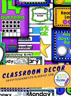 There are some fantastic choices for back to school classroom decor.  I can't wait to try this one out in my own room.