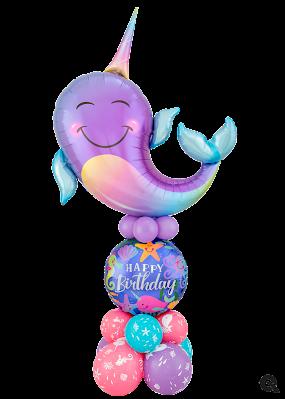 Party Narwhal Birthday Luxury Design - www.Qualatex.com