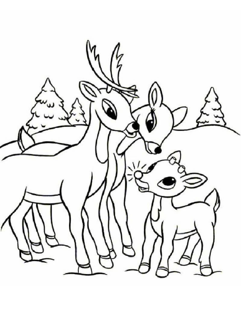 rudolph christmas coloring pages - photo#4