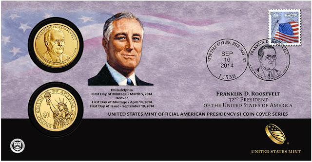 President Franklin Delano Roosevelt 2014 One Dollar Coin Cover