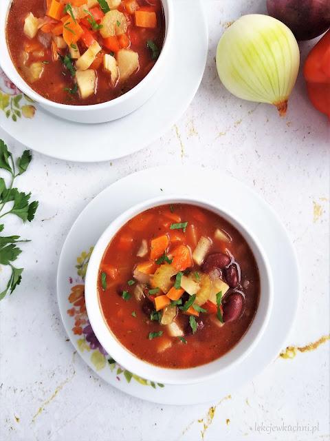 Zupa z czerwoną fasolą i ryżem przepis