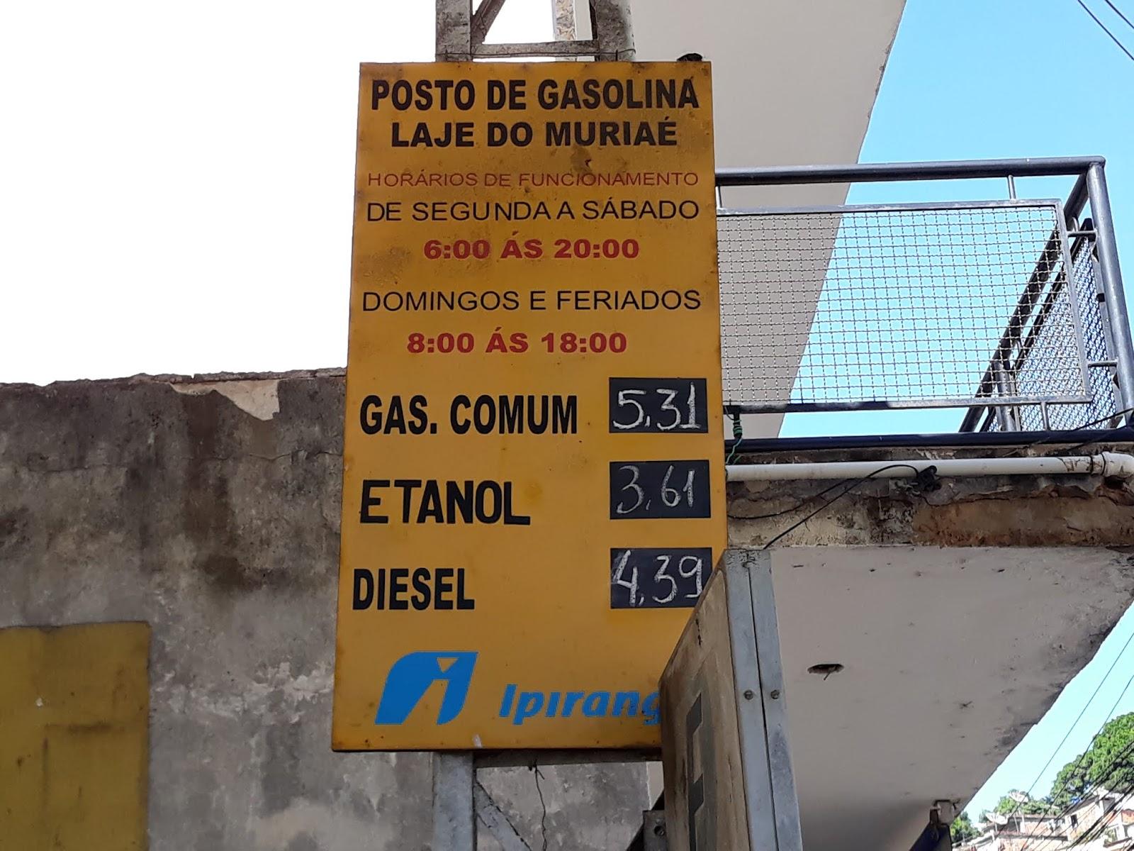 a4c18929cc3 Posto de gasolina de Laje do Muriaé fica sem gasolina e alcool nesta ...