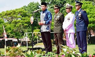 Pesan Gubernur NTB Saat HUT TNI KE-71