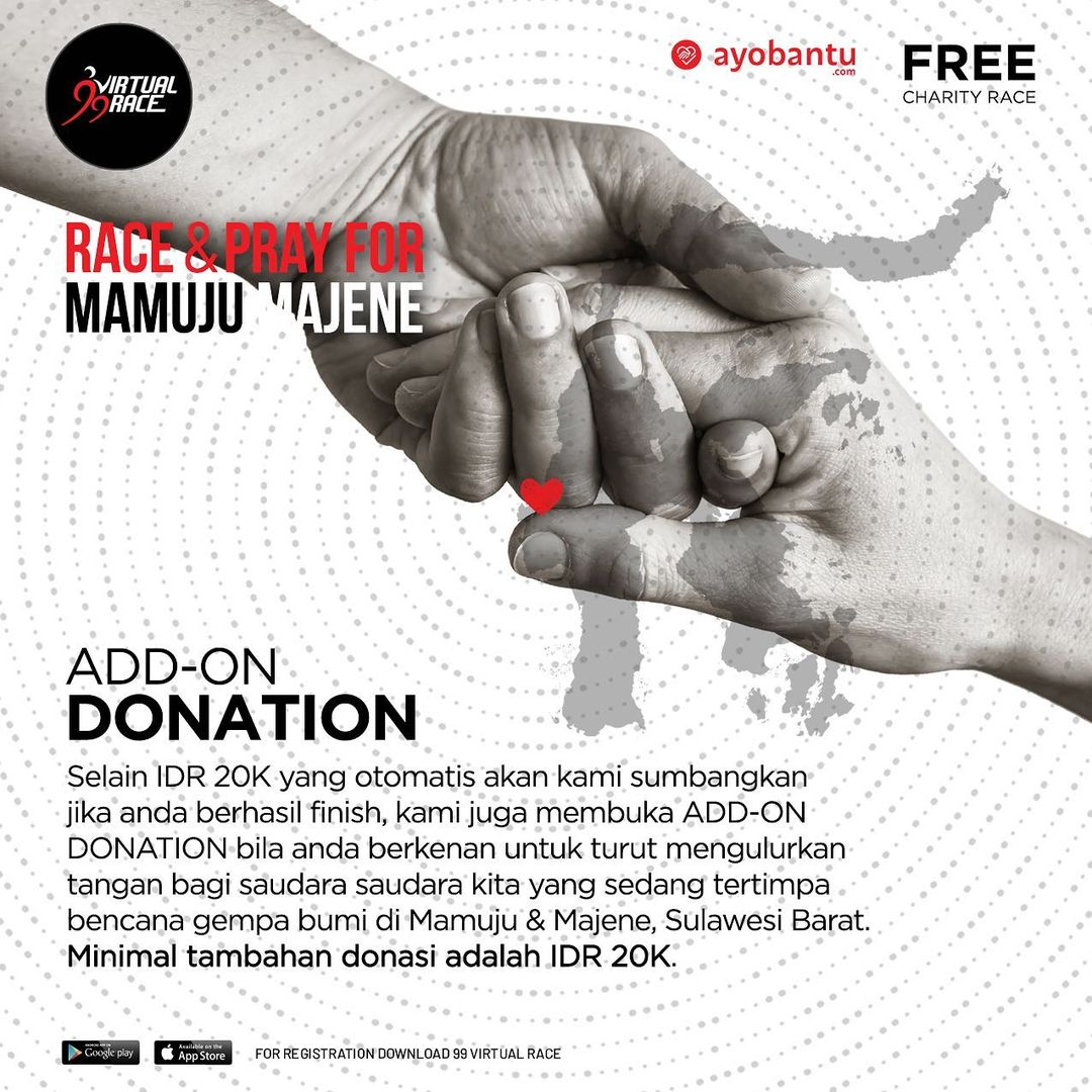 Donation 💌 Race & Pray for Mamuju Majene • 2021