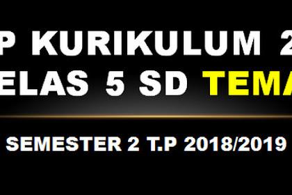 RPP Kurikulum 2013 Kelas 5 SD Tema 8 Semester 2 T.P 2018/2019