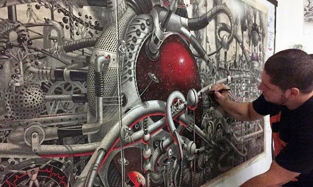 Mural a gran escala en papel