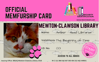 Amber Library card  ©BionicBasil® Pink