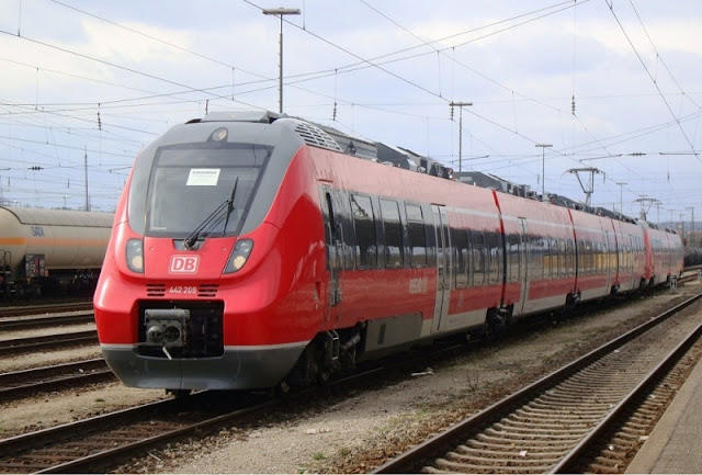 De trem de Frankfurt a Munique