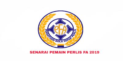 Senarai Rasmi Pemain Perlis FA Liga FAM 2019