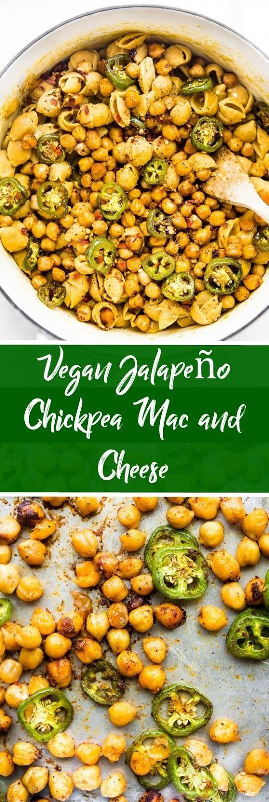 Vegan Jalapeño Chickpea Mac and Cheese #vegan #veganrecipe #healthyrecipe